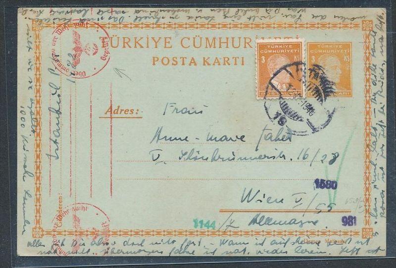 Türkei -alte Ganzsache  -Bedarf (be2103 ) siehe scan