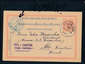 Österreich - alte  Ganzsache  nach Finnland  (be2275  ) siehe scan