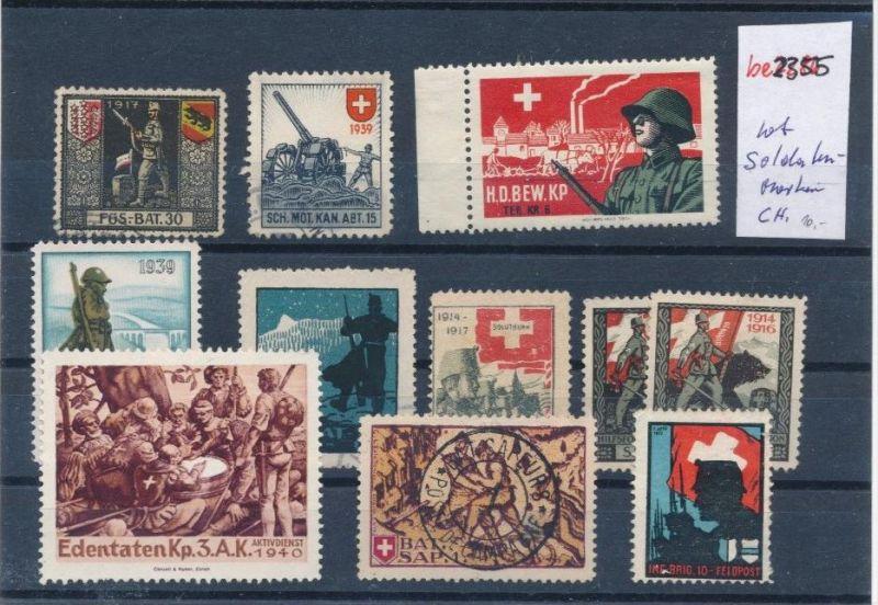 Schweiz   Lot  Soldaten Marken   (be2355  ) siehe scan
