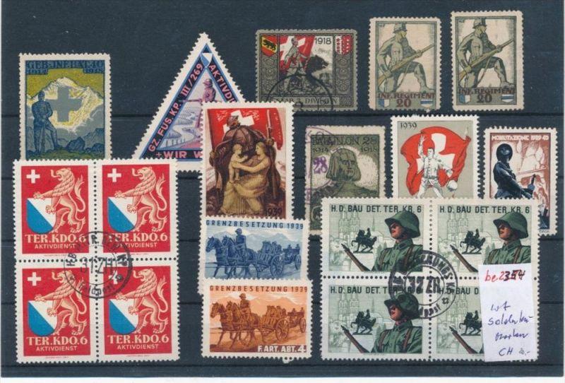 Schweiz   Lot  Soldaten Marken   (be2354  ) siehe scan