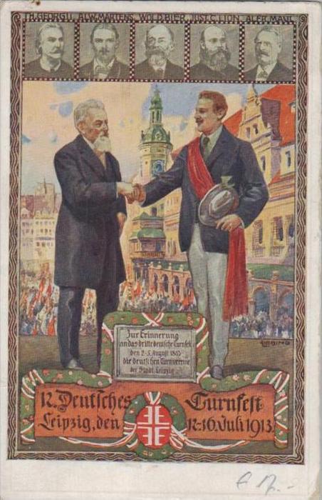 Turnfest Leipzig 1913  -  alte Karte   (k  21  ) siehe scan