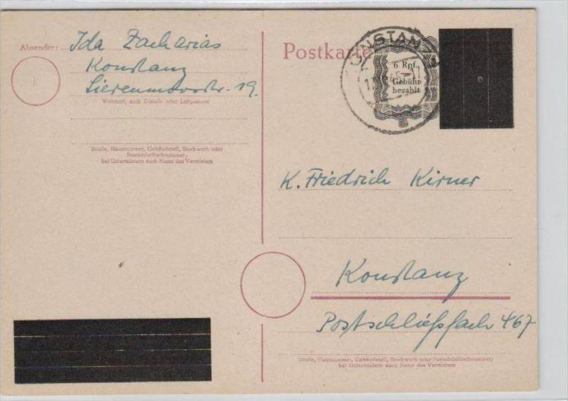Zonen-  Ganzsache Konstanz   (br 191 ) siehe scan