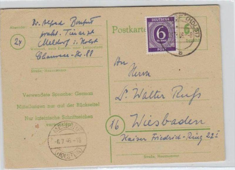 Zonen-  Ganzsache -Holstein..  (br 192 ) siehe scan