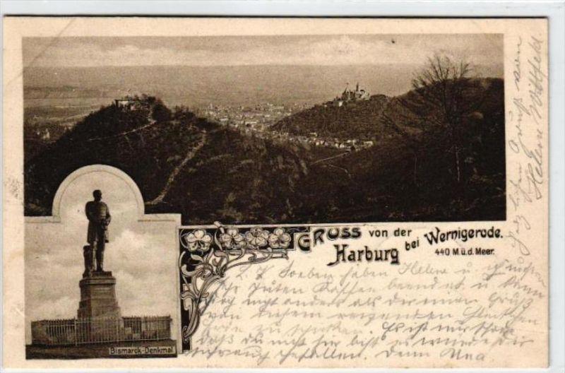 Harburg  ...  -alte  Karte   (k1403  ) siehe scan...