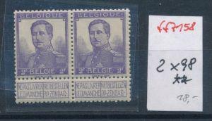 Belgien Nr. 2x 98  **    (ff7158 ) siehe scan