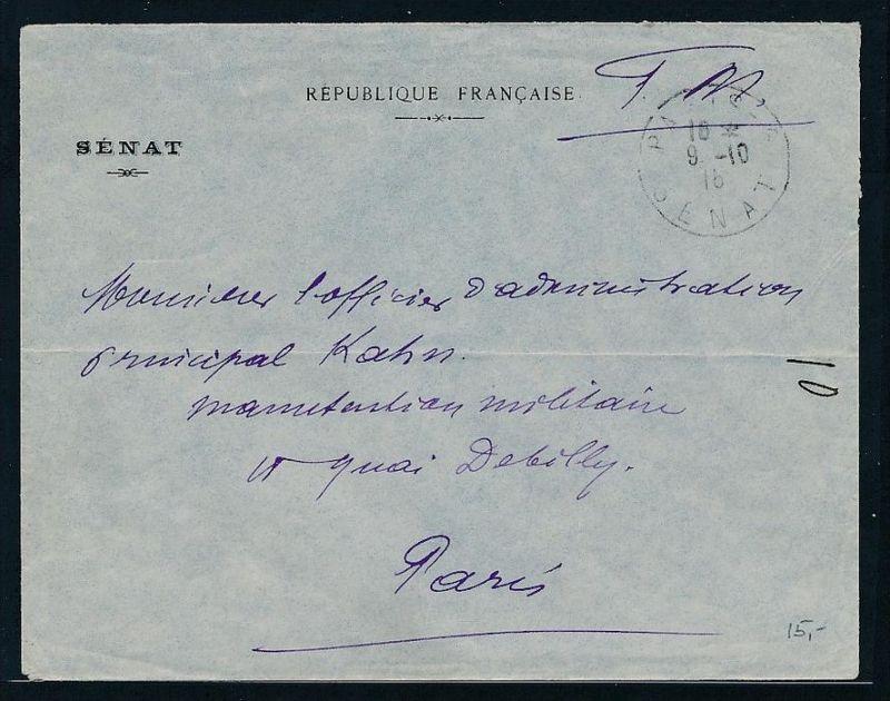 Frankreich FM-Militärpost (?)    Beleg  ( be2784  ) siehe scan