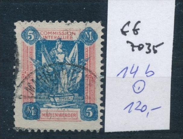 Marienwerder  Nr. 14 b  o (ff 7035 a  ) siehe scan