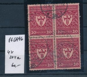D.-Reich Nr. 4x  204a   o (ff 6996a  ) siehe scan