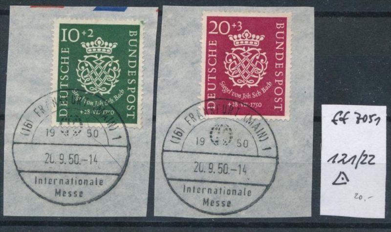 BRD  Nr. 121-22  Briefstück  (ff 7051 a  ) siehe scan