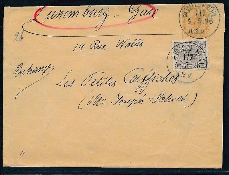Österreich- alte Beleg  Ganzsache  nach Luxemburg Karte(be2880 ) siehe scan