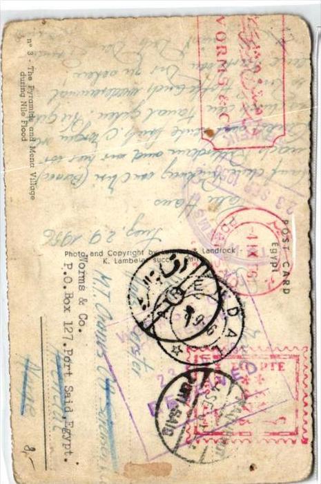 Ägypten  -alte Karte...      (br589 ) siehe scan