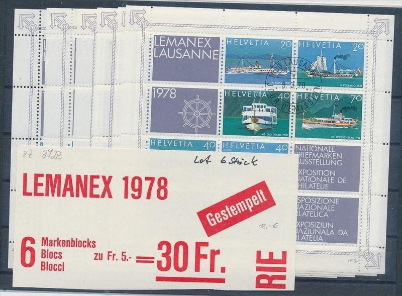 Schweiz Lemanex Block Set  o ( zz9723 ) siehe scan !