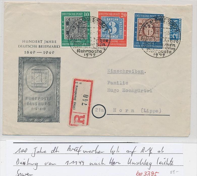 BRD  Tag der Marke 1949 netter Beleg    (be3395  ) siehe scan
