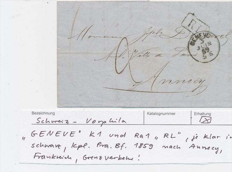 Schweiz   Altbrief - Genve   (be3137 ) siehe scan !