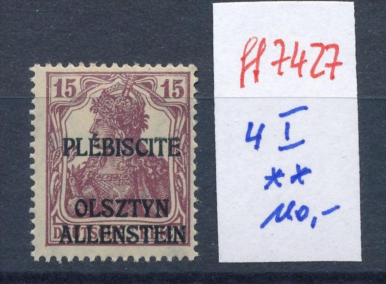 Allenstein    Nr.  4 I  **  (ff7427 ) siehe scan