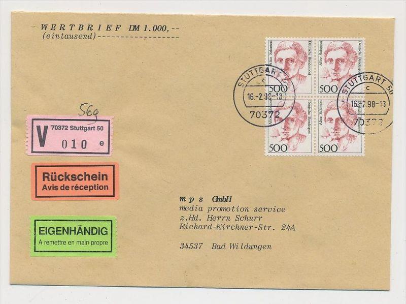 BRD Mef .R.-Brf./Wert -Mef  1397   (zz9899 ) siehe scan