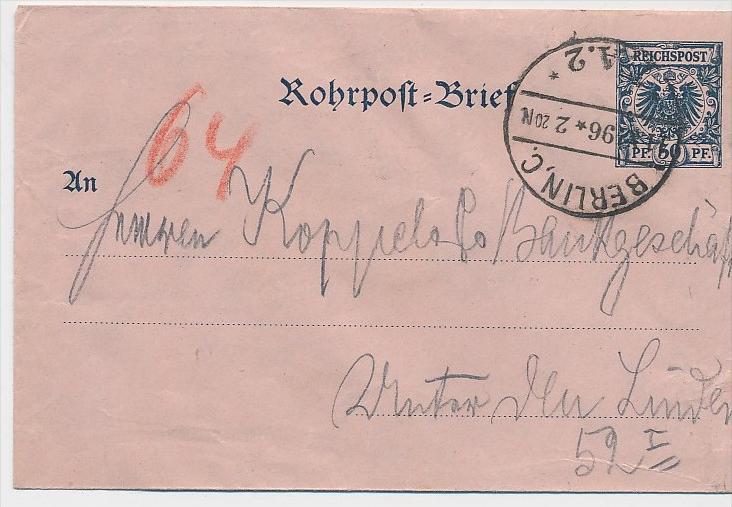 Ganzsache- Rohrpost   (be3328 ) siehe scan