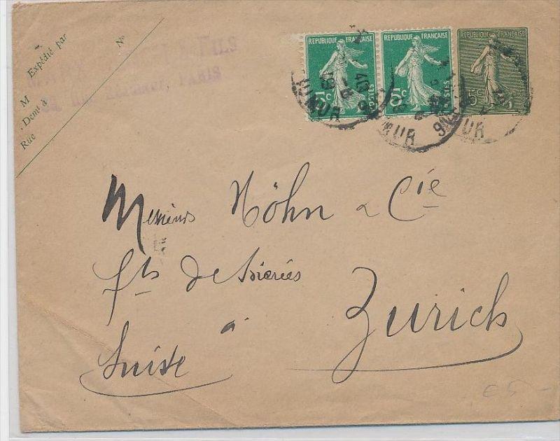 Frankreich alte Brief-Ganzsache in die Schweiz   (be3202 ) siehe scan