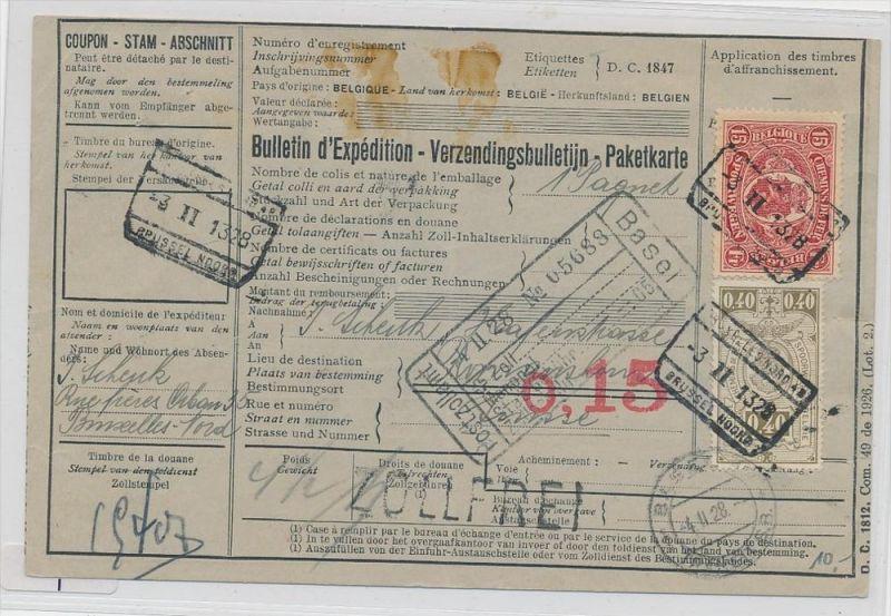 Belgien  alte Bahnpost Karte ( zz9799 ) siehe scan