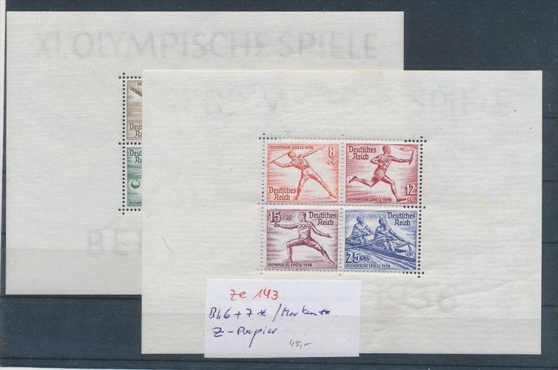 D.-Reich Block 6+7 * z dickes Papier /marken **   ( ze143   ) siehe scan