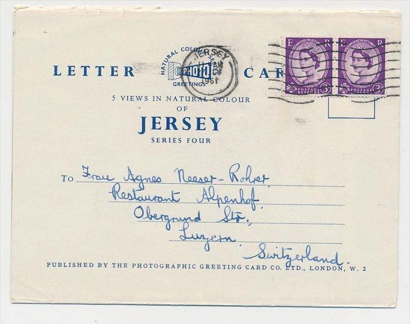Jersey  Beleg   nach  CH  (ze180  ) siehe scan