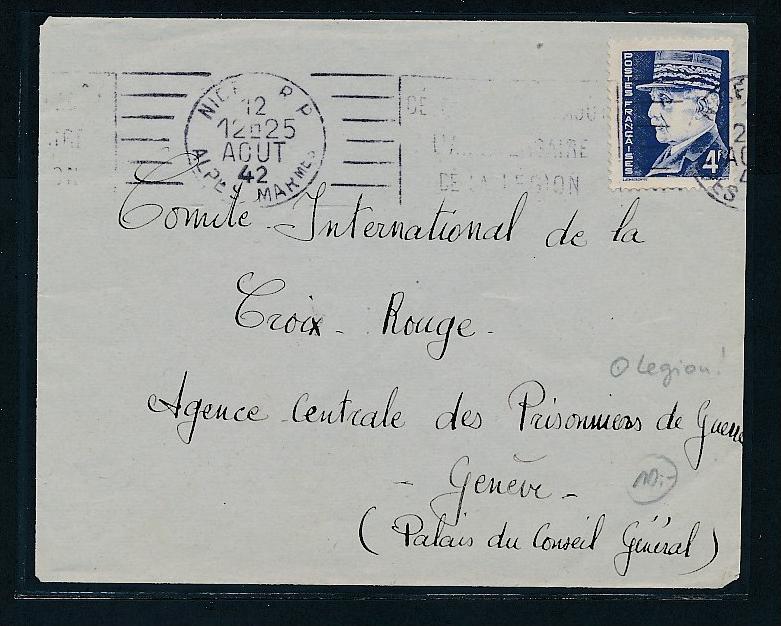 Frankreich Brief Schweiz Legion O Be3756 Siehe Scan Nr