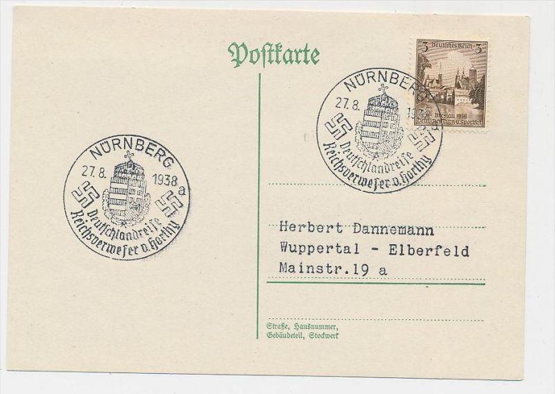 D.-Reich  Sonder/Werbe Stempel Beleg    (be4533  ) siehe scan