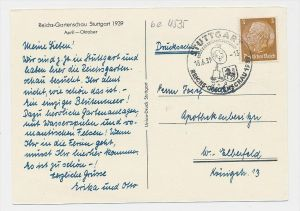 D.-Reich  Sonder/Werbe Stempel Beleg    (be4535  ) siehe scan