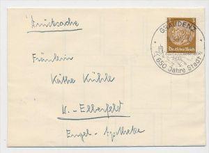 D.-Reich  Sonder/Werbe Stempel Beleg    (be4514  ) siehe scan