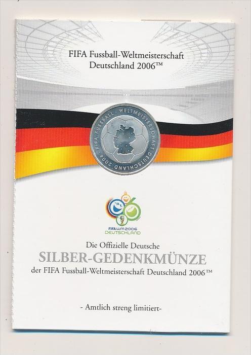 BRD 10 euro Silber  2006 im Folder  Fussball WM      (be4604  ) siehe scan