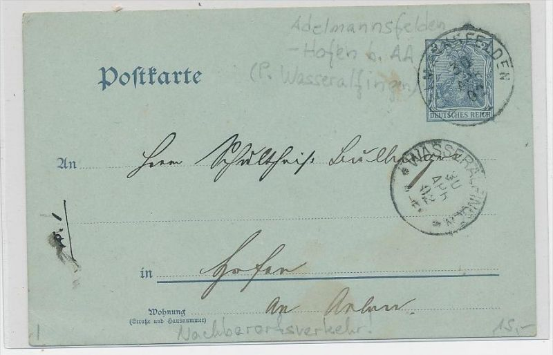D.Reich Ganzsache   (be5176 ) siehe scan