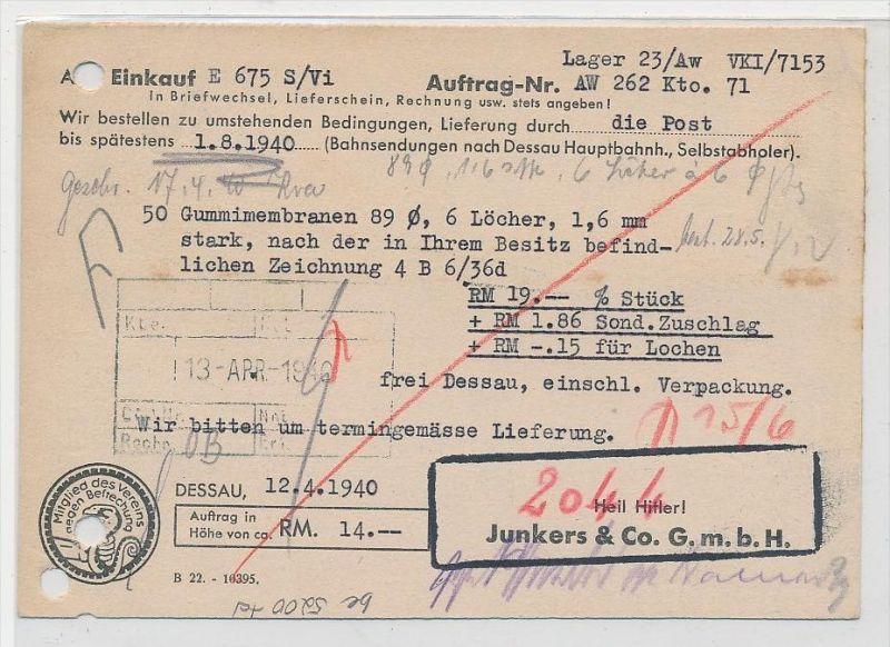 D.-Reich  Stempel Beleg  (be5200 ) siehe scan 1