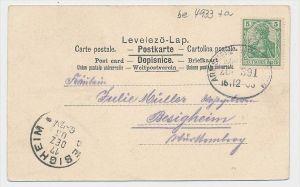 Bahnpost Beleg- Stempel beachten  (be4933 )  siehe Bild