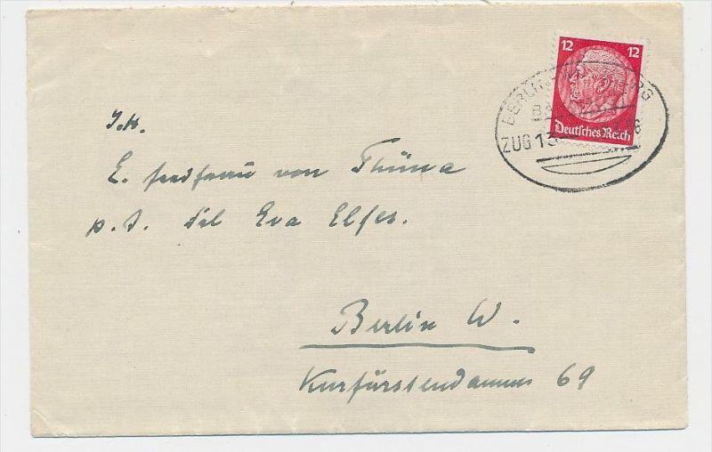 D.-Reich Bahnpost  Beleg    (be4984 )  siehe Bild