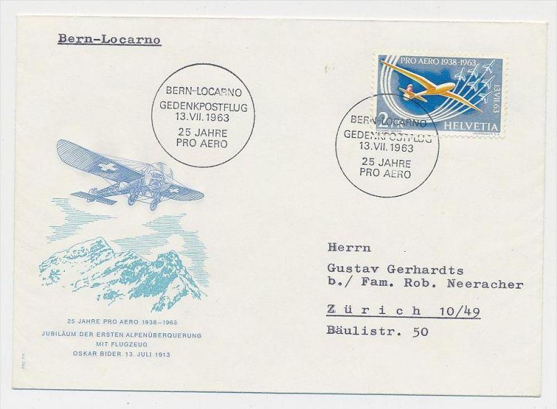 Schweiz-Luftpost Beleg    (be4803 )  siehe Bild