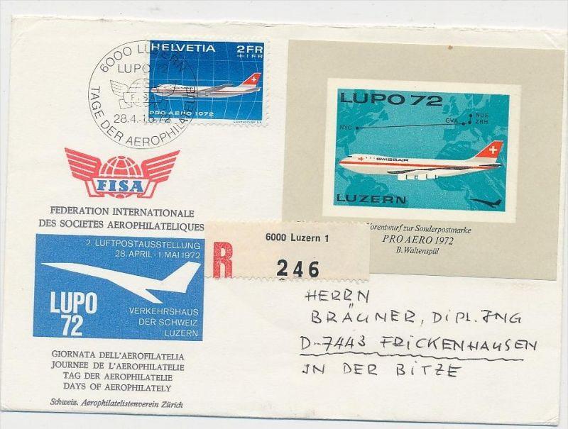 Schweiz-Luftpost Beleg    (be4804 )  siehe Bild