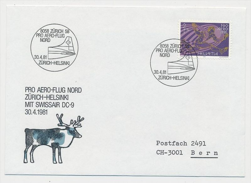Schweiz-Luftpost Beleg    (be4806 )  siehe Bild
