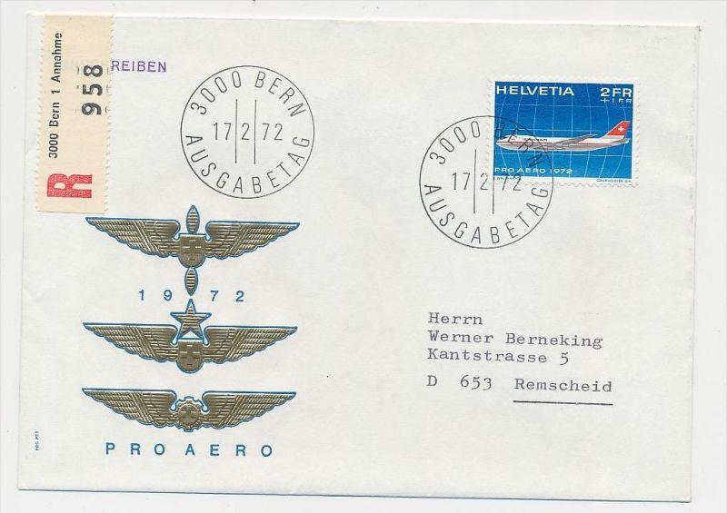 Schweiz-Luftpost Beleg    (be4807 )  siehe Bild