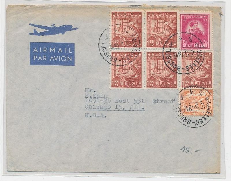 Belgien  Luftpost  > USA     (be5324 ) siehe scan
