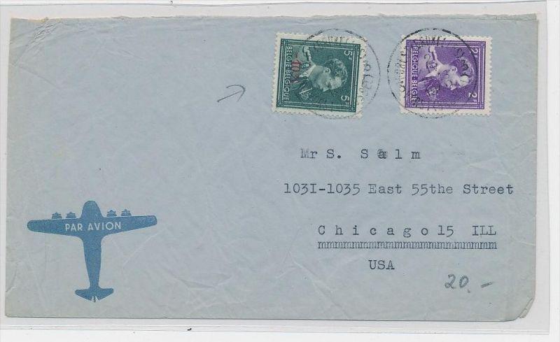 Belgien  Luftpost  > USA     (be5325 ) siehe scan
