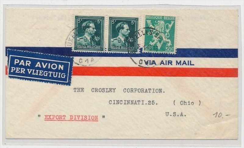 Belgien  Luftpost  >USA      (be5301 ) siehe scan
