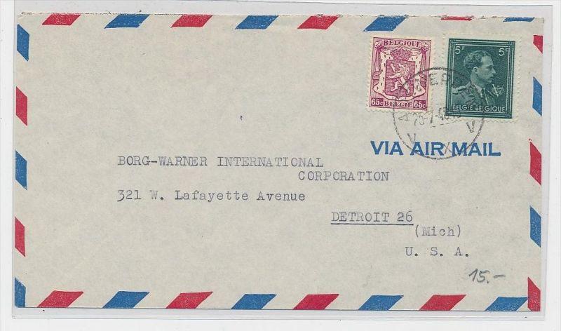 Belgien  Luftpost  >USA       (be5286 ) siehe scan