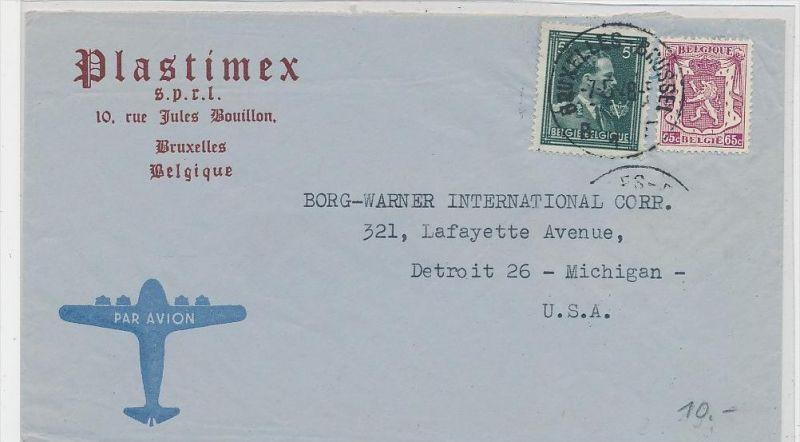 Belgien  Luftpost  >USA       (be5313 ) siehe scan