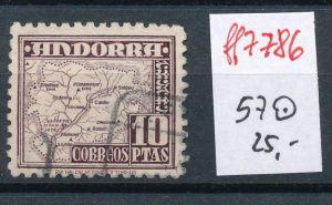 Spanisch Andorra  Nr.  57  hoher Dauerserien Wert      o    (ff7786 ) siehe scan