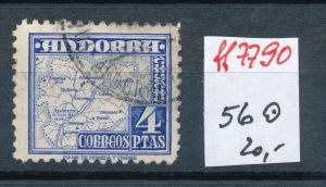 Spanisch Andorra  Nr.  56  hoher Dauerserien Wert      o    (ff7790 ) siehe scan
