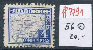 Spanisch Andorra  Nr.  56  hoher Dauerserien Wert      o    (ff7791 ) siehe scan