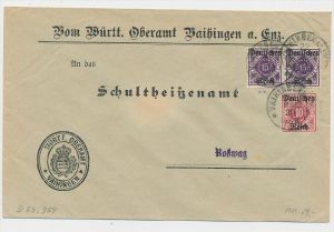 D.-Reich Dienst  Beleg -Infla geprüft   (ze611  ) siehe scan