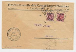 D.-Reich Dienst  Beleg -Infla geprüft   (ze612  ) siehe scan