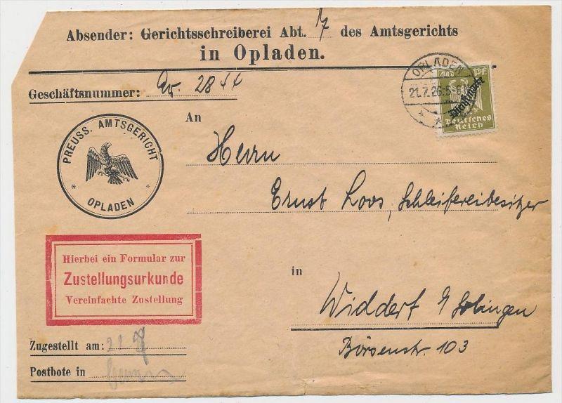 D.-Reich Dienst  Beleg -  (ze619  ) siehe scan