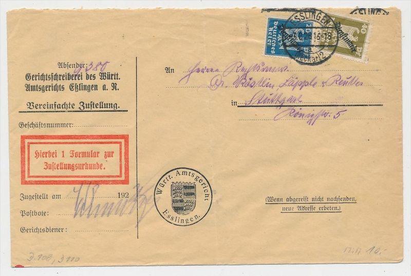 D.-Reich Dienst  Beleg -  (ze620  ) siehe scan